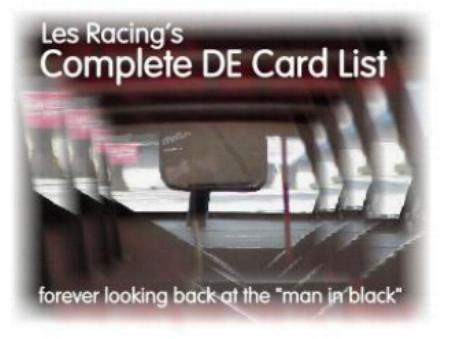 Les Racing's Racing Card Collector Checklist